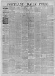 Portland Daily Press: November 28,1885