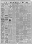 Portland Daily Press: December 01,1885