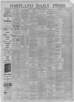 Portland Daily Press: December 03,1885