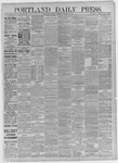 Portland Daily Press:  December 05,1885
