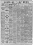 Portland Daily Press:  December 15,1885