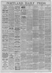 Portland Daily Press: December 26,1885