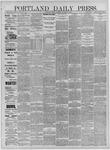 Portland Daily Press: January 06,1885
