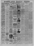 Portland Daily Press: January 23,1885