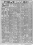 Portland Daily Press: January 27,1885