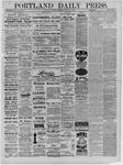 Portland Daily Press: February 25,1885