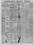 Portland Daily Press: February 26,1885