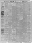 Portland Daily Press: March 04,1885