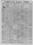 Portland Daily Press: March 06,1885