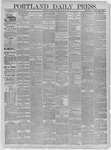 Portland Daily Press: March 10,1885