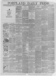 Portland Daily Press: March 14,1885