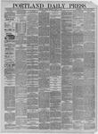 Portland Daily Press: March 16,1885