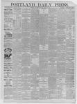 Portland Daily Press: March 18,1885