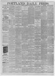 Portland Daily Press: March 19,1885