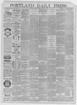 Portland Daily Press: March 23,1885