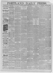 Portland Daily Press: March 25,1885