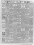 Portland Daily Press: March 26,1885