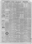 Portland Daily Press: March 27,1885