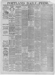 Portland Daily Press: March 28,1885
