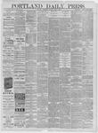 Portland Daily Press: April 01,1885