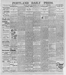 Portland Daily Press: August 30, 1895
