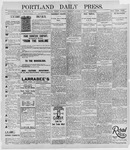Portland Daily Press: October 5, 1895