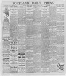 Portland Daily Press: October 8, 1895