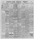Portland Daily Press: October 12, 1895