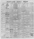 Portland Daily Press: October 22, 1895