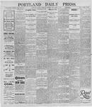 Portland Daily Press: November 7, 1895