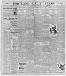 Portland Daily Press: November 9, 1895