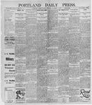 Portland Daily Press: November 11, 1895