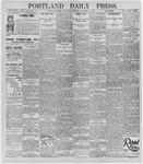 Portland Daily Press: November 27, 1895