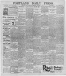 Portland Daily Press: January 15, 1896