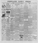 Portland Daily Press: January 20, 1896