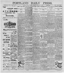 Portland Daily Press: February 25, 1896