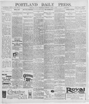 Portland Daily Press: April 1, 1896