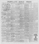 Portland Daily Press: April 9, 1896