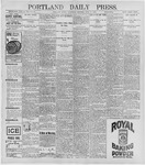 Portland Daily Press: June 17, 1896