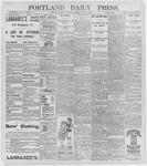 Portland Daily Press: July 9, 1896