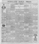 Portland Daily Press: July 27, 1896