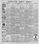 Portland Daily Press: July 29, 1896
