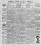 Portland Daily Press: August 3, 1896