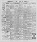 Portland Daily Press: August 4, 1896