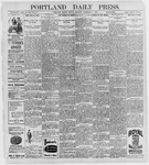 Portland Daily Press: September 7, 1896