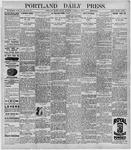 Portland Daily Press: October 2, 1896