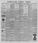 Portland Daily Press: October 7, 1896