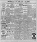 Portland Daily Press: November 3, 1896