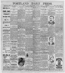 Portland Daily Press: November 13, 1896