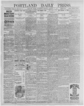 Portland Daily Press: January 27, 1897